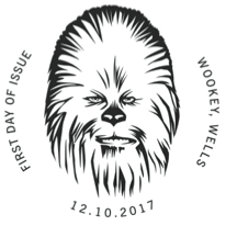 Star Wars Chewbacca 1st day postmark.