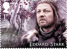 Edward Stark Game of Thrones stamp 2018.