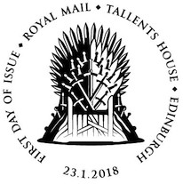 Game of Thrones 1st day postmark.