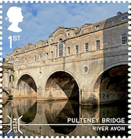 Pulteney Bridge Bath - has a stamp shop on it.
