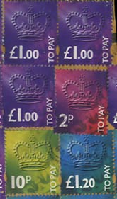 Great Britain Postage due stamps 1994.