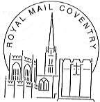 Postmark showing Truro Cathedral.