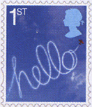 H e l l o !! great britain stamp