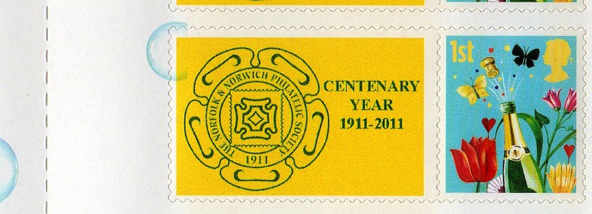 NNPS Centenary Smiler Sheet - detail.