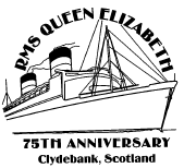 Postmark showing RMS Queen Elizabeth.